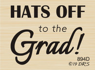 Hats Off Graduation Greeting - 894D