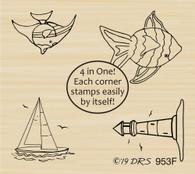 4 in 1 Ocean Designs - 953F