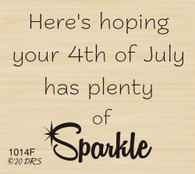 4th of July Sparkle Greeting - 1014F