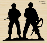 Silhouette Soldiers - 1032M