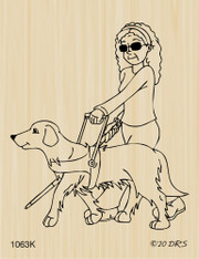 Guide Dog Assisted Woman - 1063K
