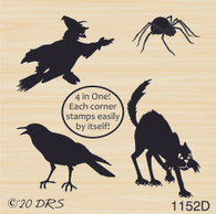 4 in 1 Halloween Silhouettes - 1152D