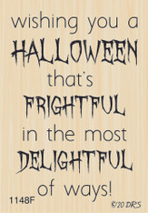 Frightful & Delightful Halloween Greeting - 1148F