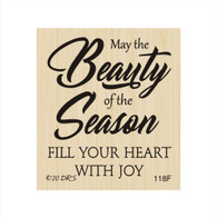 Beauty of the Season Christmas Greeting - 118F