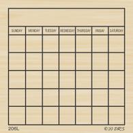 Sticky Note Calendar - 206L