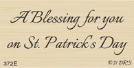 Blessings on St. Patrick's Day Greeting - 372E
