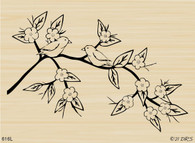 Flowering Bird Branch - 616L