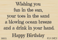 Toes in the Sand Birthday Greeting - 980G