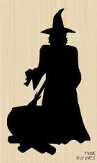 Silhouette Witch Cauldron - 716K