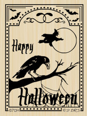 Halloween Crow/Witch Frame - 670H