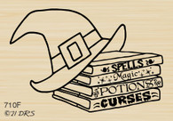 Witch Books and Hat - 710F
