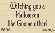Halloween Gnome Greeting - 669A