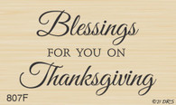 Blessing for you Thanksgiving Greeting - 807F