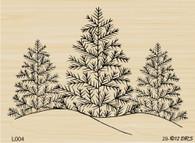 Triple Tree with Snow - 004L
