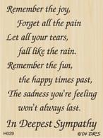 Sadness You're Feeling Sympathy Greeting - 029H