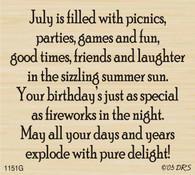 July Birthday Greeting - 1151G