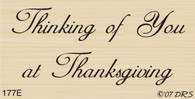 Thanksgiving Thinking of You - 177E