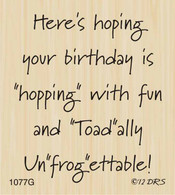 unFROGettable Birthday Greeting - 1077G