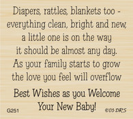 Diapers Rattles and Blankets Baby Greeting - 251G