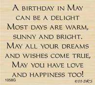 May Birthday Greeting - 1058G