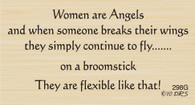 Women Are Angels Greeting - 298G