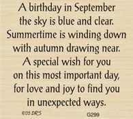 September Birthday Greeting - 299G