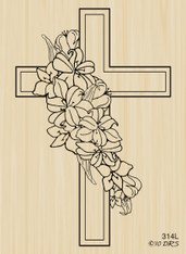 Lily Sympathy Cross - 314L
