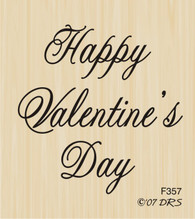 Medium Script Valentine's Day - 357F