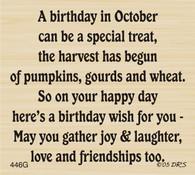 October Birthday Greeting - 446G