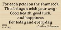 Petals of a Shamrock Greeting  - 459G