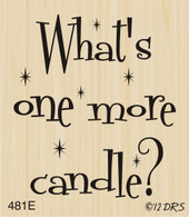 One More Candle Greeting - 481E