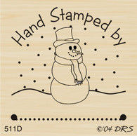 Snowman Stamped by - 511D