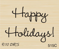 Small Happy Holidays Greeting - 515C