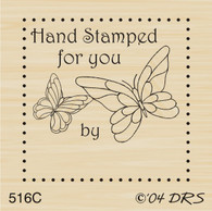 Butterfly Hand Stamped By - 516C