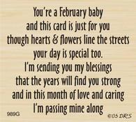 February Birthday Greeting - 989G