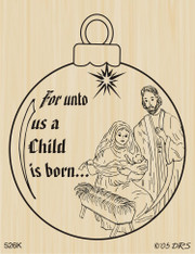 Nativity Ornament - 526K