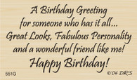 Has It All Birthday Greeting - 551G