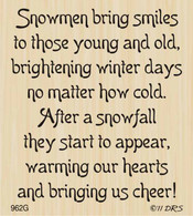 Snowmen Smiles Greeting - 962G