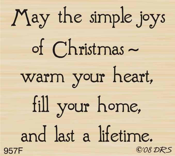 The Joys Of Christmas.Simple Joys Of Christmas Greeting 957f