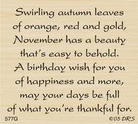 November Birthday Greeting - 577G