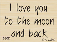 Love You To The Moon Greeting - 580D
