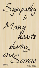 Many Hearts of Sorrow Greeting - 598G