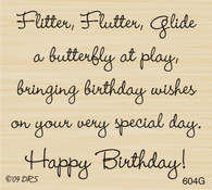 KS Butterfly Birthday Saying - 604G