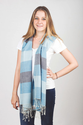 The superb look and feel of this multicolored Pashmina will make you feel sensuous and stylish at the same time.