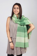Multicolored Pashmina Green