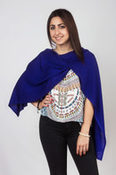 Fine Knit Cashmere Shawl Dark Blue Violet