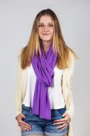 Fine Knit Cashmere Shawl Deep Lavender
