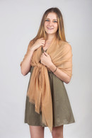 Light Cashmere Scarf Camel