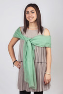 Light Cashmere Scarf Pastel Green