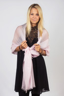 Light Cashmere Scarf Pink Mist